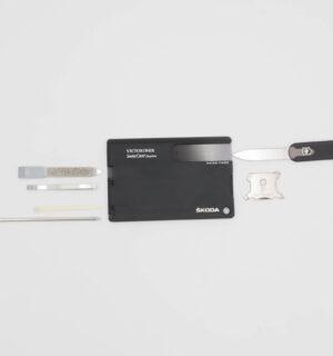 Wielofunkcyjny zestaw Swisscard Victorinox Quattro czarny