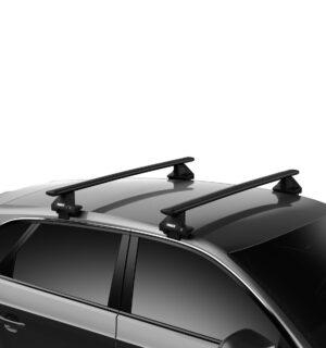 Thule Evo WingBar Black – Skoda Fabia III Hatchback
